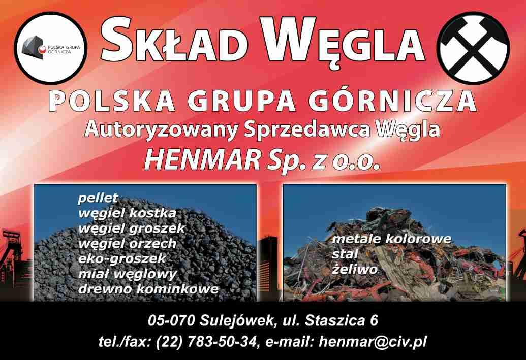 Poważnie HENMAR Sp. z o.o. SULEJÓWEK skup złomu metale kolorowe stal OX54